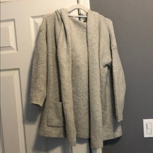 Soft Grey Cardigan